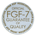 Product approved by the Japan EGF Association